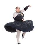 在芭蕾舞短裙的扮装皇后跳舞 图库摄影
