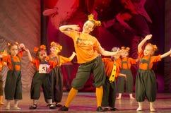 在芭蕾舞蹈艺术的竞争在米斯克,白俄罗斯 免版税图库摄影