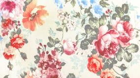 在花卉抽象无缝的样式的减速火箭的鞋带织品在纺织品纹理背景,使用当家具材料或葡萄酒样式 库存照片
