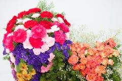 在花展的花花束 库存图片