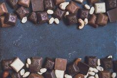 在花岗岩背景的Chokolate 库存照片