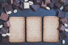 在花岗岩背景的Chokolate 库存图片