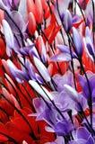 在花形状的色的装饰 免版税库存图片