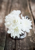 在花束的白色菊花 免版税库存照片