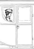 在花梢18世纪支架供以座位的妇女概述 皇族释放例证