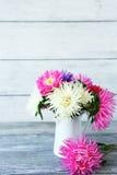 在花瓶的翠菊 免版税库存照片