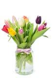 在花瓶的郁金香 库存图片