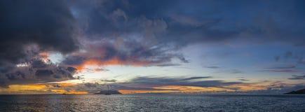在花花公子Vallon海滩的日落 图库摄影