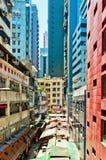 在苍白柴,香港的街道视图 免版税库存照片