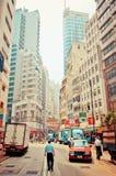 在苍白柴,香港的街道视图 免版税库存图片
