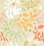 在苍白颜色的装饰花卉无缝的样式 免版税库存图片