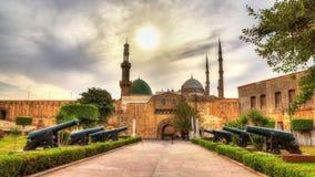 在苏丹萨拉丁AlAyyuby -开罗城堡的大炮  免版税库存图片