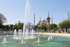 在苏丹Ahmet广场的喷泉 图库摄影
