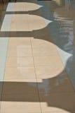 在苏丹Mahmud清真寺成拱形阴影在瓜拉Lipis,彭亨 免版税库存照片