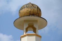 在苏丹Mahmud清真寺的尖塔细节在瓜拉Lipis,彭亨 免版税库存图片