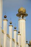 在苏丹Mahmud清真寺的Doms在瓜拉Lipis,彭亨 免版税库存图片