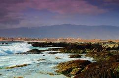 在苏尔,阿曼上的海景 免版税库存照片
