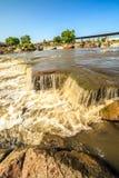 在苏族瀑布,南达科他,美国的瀑布 库存照片