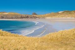 在苏格兰的北部的不可思议的海滩 免版税库存照片