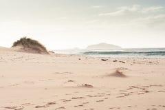 在苏格兰的北部的白色海滩 库存图片