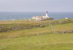在苏格兰的西海岸的灯塔 库存图片