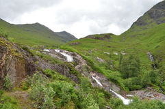 在苏格兰的高地的瀑布 库存图片