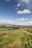 在苏格兰的高地的Knockfarrel小山 库存照片
