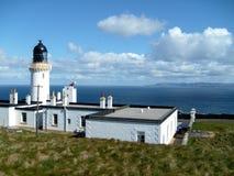 在苏格兰的northerrn海岸的灯塔 库存图片