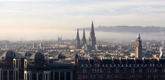 在苏格兰视图的爱丁堡 库存照片