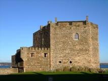 在苏格兰附近的黑度城堡爱丁堡 图库摄影