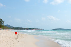 在苏梅岛海岛上的Chaweng沙滩在泰国 免版税库存照片
