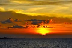 在苏梅岛海岛的日落 图库摄影