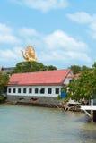 在苏梅岛海岛,泰国上的Wat Phra亚伊大菩萨寺庙 库存图片