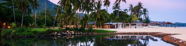 在苏梅岛,泰国的避暑胜地 图库摄影