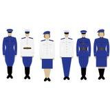 在苏联形成衣裳警察 库存例证