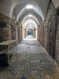在英亩下堡垒的老商业隧道  库存图片