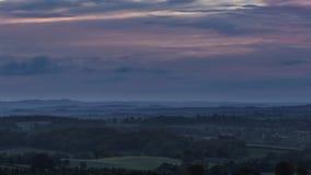 在英国乡下时间间隔的秋季早晨 影视素材