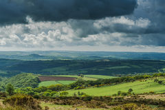 在英国乡下的景色 免版税库存图片