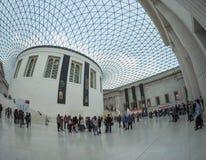 在英国博物馆的巨大现场London.The博物馆的收集的,计算超过7百万个对象,是在最大之中和最全面在世界上 免版税库存图片