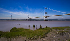 在英国和威尔士之间的Severn桥梁 库存图片