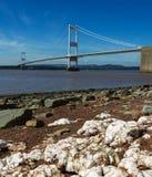 在英国和威尔士之间的Severn桥梁 图库摄影