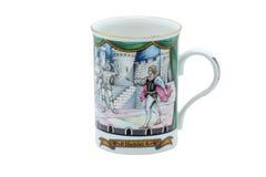 在英国杯子杯子做的瓷 免版税库存照片