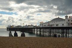 在英国的东海岸的布赖顿码头 库存图片