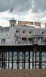 在英国的东海岸的布赖顿码头 图库摄影
