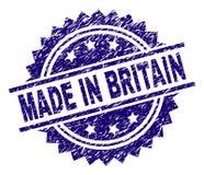 在英国邮票封印做的被抓的织地不很细 向量例证