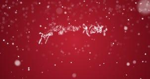 在英语,德语,法语,西班牙语,意大利语,葡萄牙语多语言的使成环的圣诞快乐消息与拷贝商标空间 影视素材