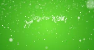 在英语,德语,法语,西班牙语,意大利语,葡萄牙语多语言的使成环的圣诞快乐消息与拷贝商标空间 股票视频