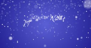 在英语,德语,法语,西班牙语,意大利语,葡萄牙语多语言的使成环的圣诞快乐消息与拷贝商标空间 股票录像