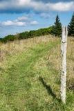 在苹果树山的阿巴拉契亚足迹 库存图片