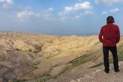 在茱迪沙漠,以色列 库存照片